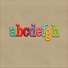 Scrapbooking TammyTags -- TT - Designer - Harper Finch, TT - Item - Alphabet