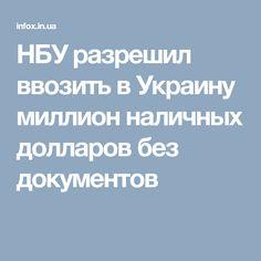 НБУ разрешил ввозить в Украину миллион наличных долларов без документов
