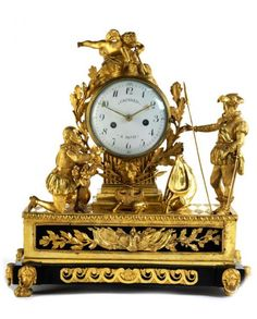Große Kaminuhr - Höhe: ca. 51,5 cm. - Breite: 49 cm. - Tiefe: ca. 23 cm. - - [...], Catalogue 2 : Beaux-Arts à Hampel Fine Art Auctions | Auction.fr
