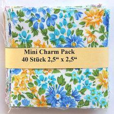 """Mini Charm Pack - 40 Stoffe der Makower Kollektion 'Alison's Ditzy Florals' - 20 verschiedene Stoffe, jeweils zweimal - 40 x (2,5"""" x 2,5"""" - ~ 6,35 cm x 6,35 cm) asc-471-3010"""