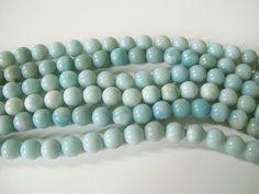 Amazonite round beads 10mm aqua blue gemstone beads  full strand round beads by Susiesgem on Etsy