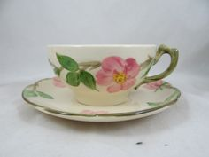 1960s Franciscan Ware Desert Rose Teacup and by SecondWindShop