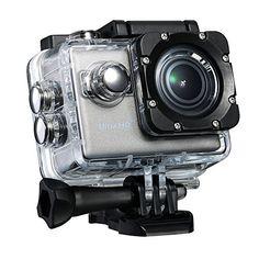 VTIN Caméra de Sport et Action Wifi UHD 20MP 30m Étanche Caméscope d'Action Sous-marin avec Écran 2 Pouces 2 Batterie Incluses, équipe le…