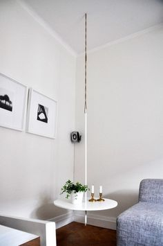 Small Space Illusion: DIY Hanging Tables   Apartment Therapy