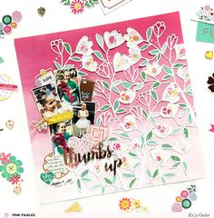 A colorful, floral layout to make your winter days a little brighter? Why not! @pinkpaislee #ppohmyheart #scrapbooking #layout #cutfiles