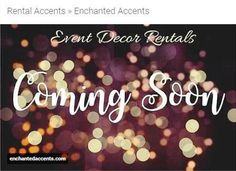 http://enchantedaccents.com | Enchanted Accents -Event Decor Rentals (Coming Soon) | When you rent decorations for your event, it's generally much cheaper than purchasing. Details that make an event 'come to life' always have a price tag that will add up quickly, if buying. It's especially important to mention the impacts on the earth that buying and consumption has. It's much more eco-friendly to rent decorations.