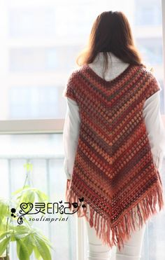 Poncho sweater pattern by Addicted 2 The Hook Crochet Poncho Patterns, Crochet Jacket, Crochet Cardigan, Crochet Shawl, Hand Crochet, Knit Crochet, Poncho Sweater, Tunic Pattern, Crochet Winter