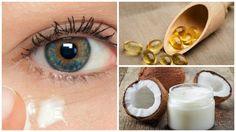 Crema natural de aceite de coco para rejuvenecer el contorno de los ojos