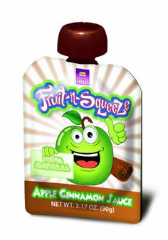 Fruit-n-Squeeze, Apple Cinnamon, 4-Count, , #spout #pouches for more information visit us at  www.coffeebags.co.za