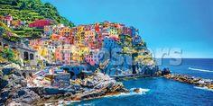 Italy- Cinque Terre Landscapes Poster - 61 x 30 cm