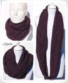 Strickanleitung Loop Tweed Woman / Knitting Pattern Cowl Tweed Woman