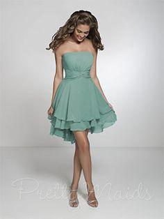 Bridesmaid Dress - Short & Strapless
