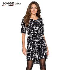 dress Women o-neck and half sleeves dress  plus size women clothing chic elegant sexy fashion dresses 9027 Love it? Visit us