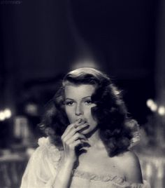 """""""Johnny is such a hard name to remember  - and so easy to forget."""" Rita Hayworth in Gilda (dir. Charles Vidor, 1946)"""