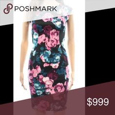 NWT Love...Ady | Floral Print Sheath Dress Really pretty Floral Sheath dress that is perfect for spring. The colors of the flower on this dress really pop. Cap sleeve cocktail dress in a stretch Bodycon style. Falls above the knee, has subtle slits on the bodice and the back. 96% polyester and 4% spandex. The label inside the dress is loose on one side, but other than that it's in perfect condition - new with tags. love...ady Dresses