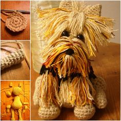 Here is a cute FREE pattern of Amigurumi crochet Yorkie Dog . It is so cute and would make a perfect gift for any little ones.