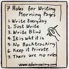 7 Rules for Writing Morning Pages. Have you tried using morning pages? Journal Layout, My Journal, Journal Prompts, Journals, Bullet Journal, Notebooks, Journal Diary, Writing A Book, Writing Tips