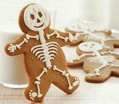 Skeleton Gingerbread cookies