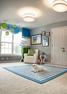 blue/gray/green nursery