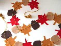 Make a Felt Garden for Fall --> http://www.hgtvgardens.com/crafts/get-crafty-make-a-felt-garland-for-fall?soc=pinterest