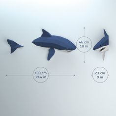 Low Poly Shark Model Create Your Own 3D Papercraft Shark