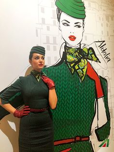 The Italian style flies high. #Alitalia #fashionweek #EtihadPartners