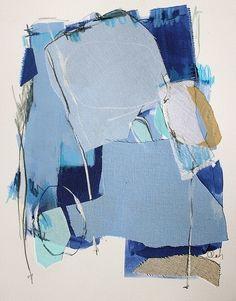 mix fabrics with paint
