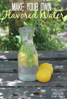 Check out all of these great ways to add flavor to your water! Find out how you can make your own flavored water! Refreshing Drinks, Yummy Drinks, Healthy Drinks, Flavored Water Recipes, Fruit Recipes, Flavored Waters, Non Alcoholic Drinks, Cocktail Drinks, Fancy Drinks