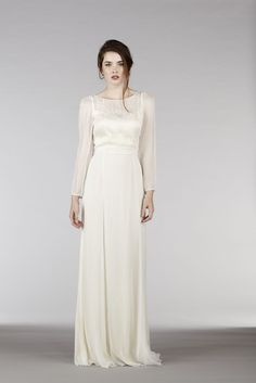 a long sleeved wedding dress, Saja 2015 Bridal Collection { elegant and amazing pieces } http://www.itakeyou.co.uk/wedding/saja-2015-wedding-dresses-elegant #weddingdress #weddinggown