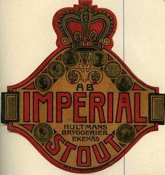 Imperial, Hultmans Bryggerier, #olut #etiketit #beer #labels