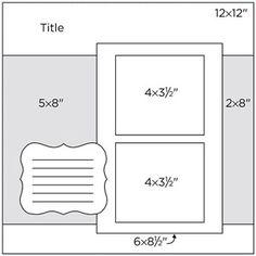 How to Make A Paper Bag Scrapbook – Scrapbooking Fun! Scrapbook Patterns, Scrapbook Layout Sketches, Scrapbook Templates, Scrapbook Designs, Card Sketches, Scrapbooking Layouts, Paper Bag Scrapbook, 12x12 Scrapbook, Scrapbook Journal