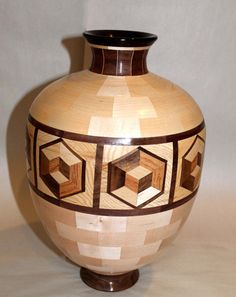Cube Ring Wooden Bowl Lathe Projects, Wood Turning Projects, Furniture Projects, Wood Projects, Wooden Bowls, Wooden Art, Segmented Turning, Bowl Turning, Woodworking Plans