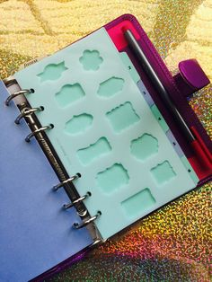 Transparent Planner/Journal Stencil  Plaques by VeryVivv on Etsy