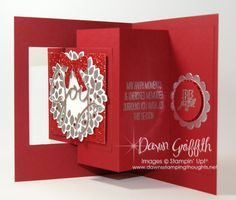 """Pop out swing card with Dawn - same tech for """"Groovy Love"""" card"""
