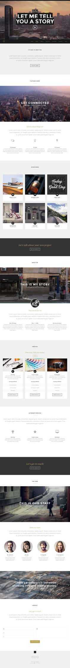 Magnum from ThemeForest - a stunning wordpress theme.