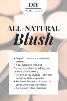 What goes on your skin is just as important as what you eat. Click to get instructions on how to make your own blush makeup out of ingredients that you could safely eat from the #PureFiji blog | Natural Skin Care Product for Natural Beauty #DIYBlush #DIYBeauty #DIYMakeup