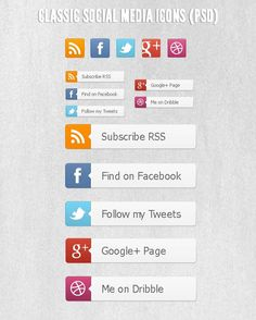 Botones Badges Redes Sociales Gratis