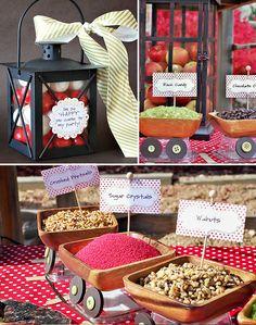 Snow White Caramel Apple Bar