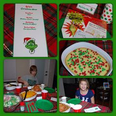 grinch dinner, dinner idea, christma theme, theme dinner, stole christma