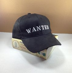 WANTED Baseball cap by SundayNeek on Etsy