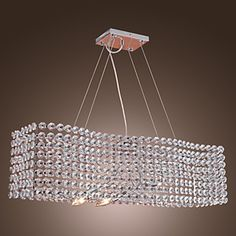 Stylish Crystal Chandelier with 3 lights - Electrochromism Finish – LightSuperDeal.com