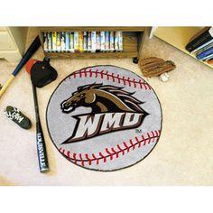 Western Michigan Broncos Baseball Round Floor Mat (29)