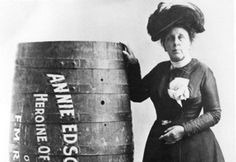 Rare Historical Images That Will Shock You 918 SHARES FacebookTwitter niagara  Don't Try This At Home In 1901, Annie Edison Taylor became the first person to survive going down Niagara Falls in barrel.