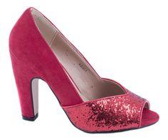Pantofi cu toc - Pantofi rosii cu toc AB901R - Zibra