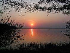 Sunset over a lake - Am Steinhuder Meer - Germany