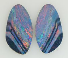 Large Opal Doublet Freeform Pair by StoweGems on Etsy