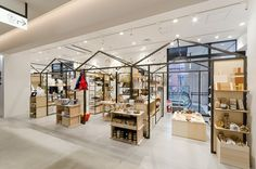 Shopping Mall Interior, Retail Interior, Retail Store Design, Retail Shop, Commercial Design, Commercial Interiors, Japanese Restaurant Interior, Christmas Market Stall, Shops