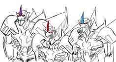 TFP Skywarp, Starscream, and Thundercracker