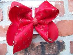 Large 2 Layer Red Sheer Glitter Hearts Ribbon by karenscreations1, $8.98