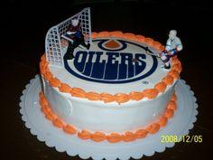 Edmonton Oilers - edible Image Hockey Birthday Cake, Hockey Birthday Parties, Hockey Party, Themed Birthday Cakes, 9th Birthday, Birthday Ideas, Hockey Cakes, Dad Cake, Sport Cakes